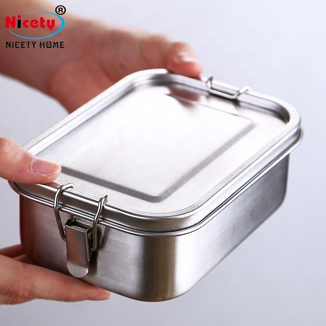 Nicety best korean metal 304 stainless steel tiffin lunch box mens bento kimchi container inox personalized lunch box for adult