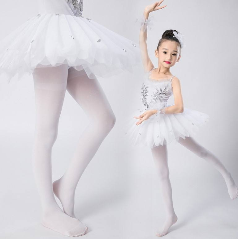 Wholesale ballet pink kids ballet dance leggings pantyhose adults tights footed girls tights