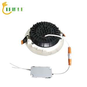 Led downlight ceiling light round recessed LED down light indoor aluminum 7w 10w 15w 20w 30w cob led downlight