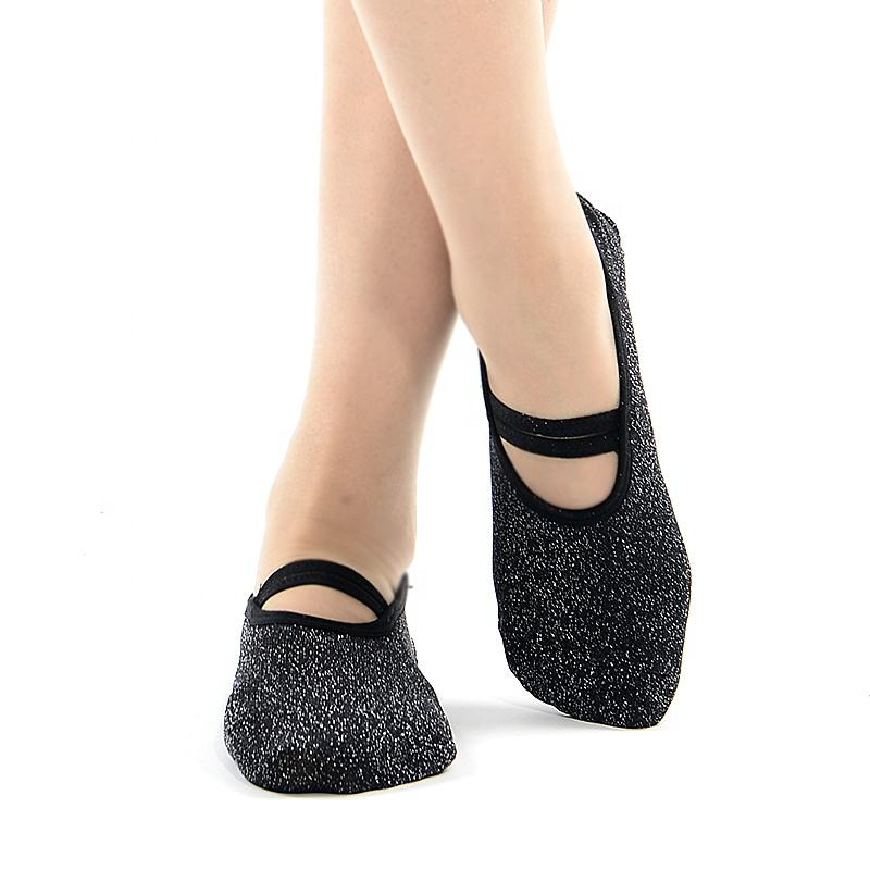MEIKAN Cotton Pilates Adult Barre Socks Antislip Pvc Silicone Sole Custom Logo Barre Yoga Grip Socks for Women with Grip Non Slip