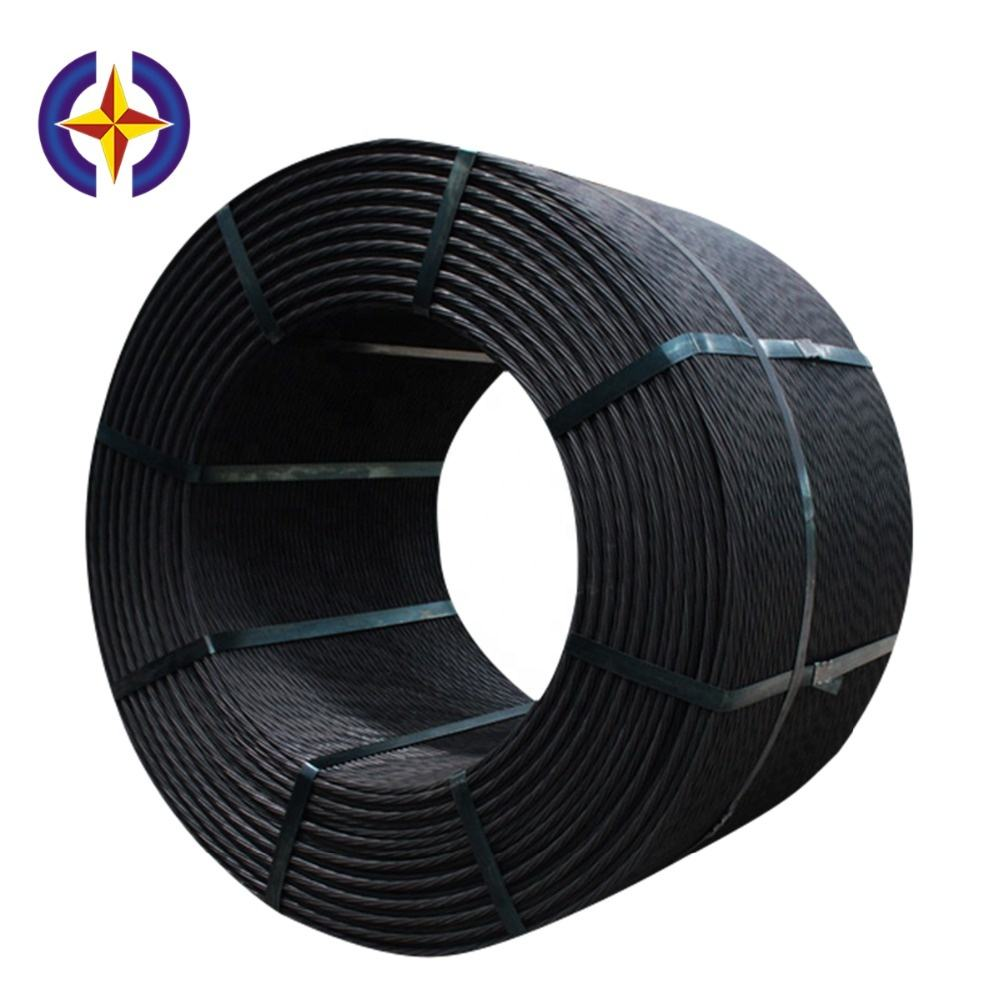 Bridge construction ASTM A416 Grade 270 7wire HT Prestressed Concrete steel strand PC strand