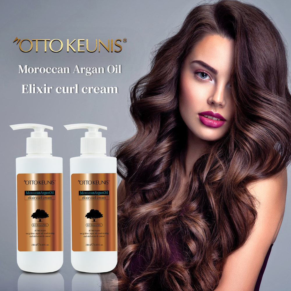 Do Your Own Brand Top Quality Hair Styling Product Argan Oil Curl Defining Cream For Wigs Curly Natural Hair