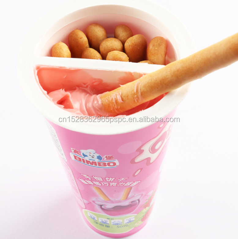 Halal Packaging Finger Shape Biscuit with Sauce