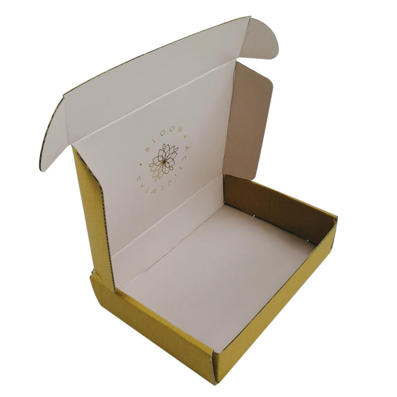 Bespoke Natural Kraft Clothes Flat Tuck Top Mailer Box For Shipping T-shirt