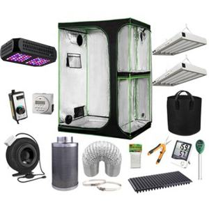 Fabric 2-in-1 Grow Tent Complete Kit with Led Grow Light or HPS MH Grow Light