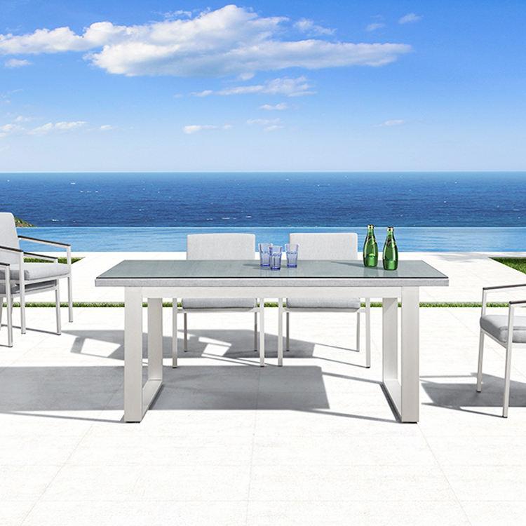 Lujo metal patas de la mesa de comedor sillas jardín establece <span class=keywords><strong>muebles</strong></span> para terraza al aire libre