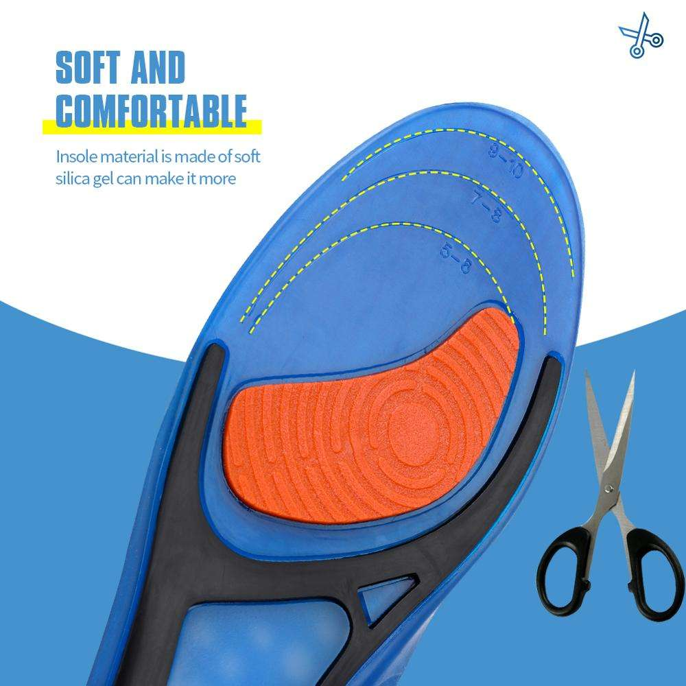 Gel Insoles Bangniinsoles Magnetic Massage GEL Insoles Foot Pad Sport Sole Shoe Insole Silicon Heel Protectors Shoe Inserts Foot Cushion