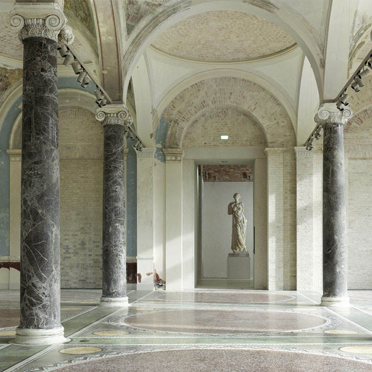 Green Artificial Marble Pillars and Columns