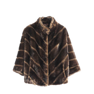 Founder Women Fashionable Luxury Faux Fur Coats Artificial Fur Jacket Imitation Animal Fur Outwear