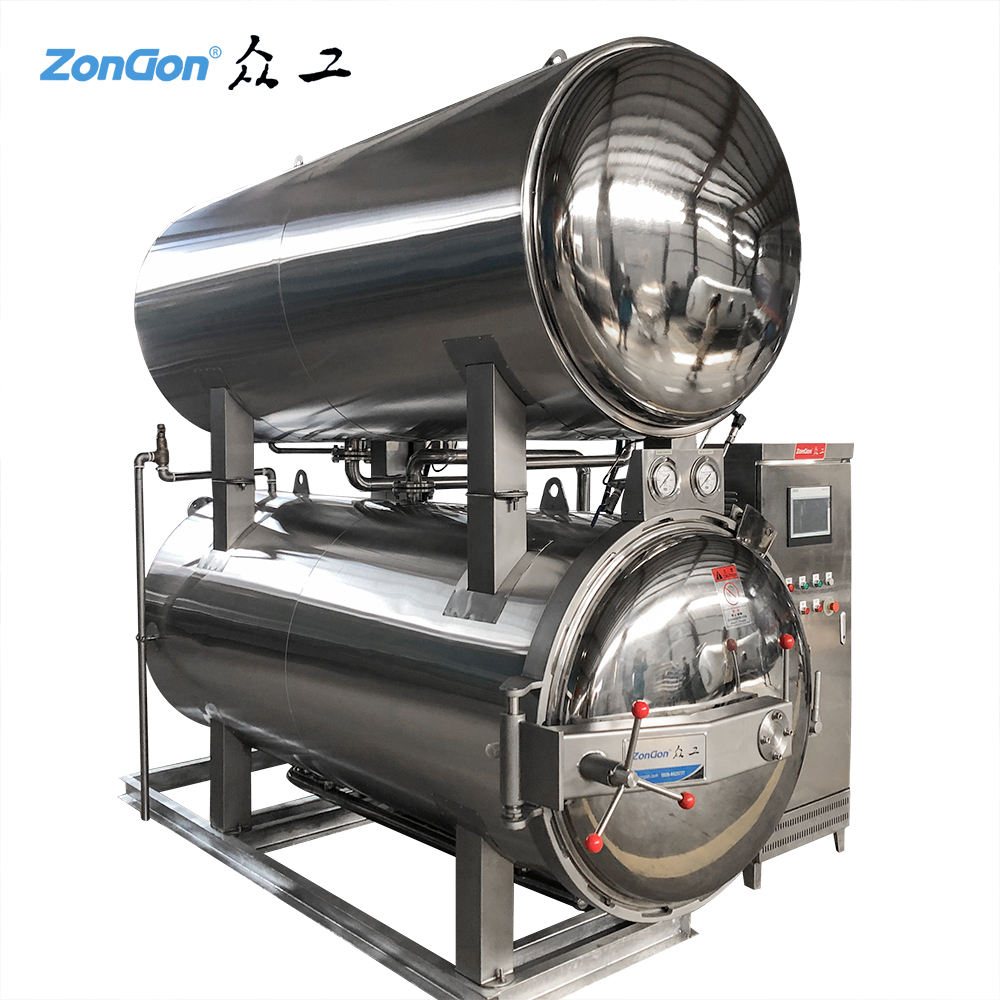 121degree centigrade sterilizer canned food retort machine