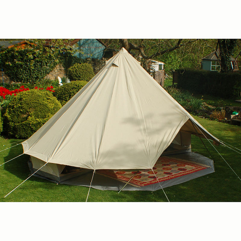 Luxury glamping safari 4M bell tent with 100 cotton canvas