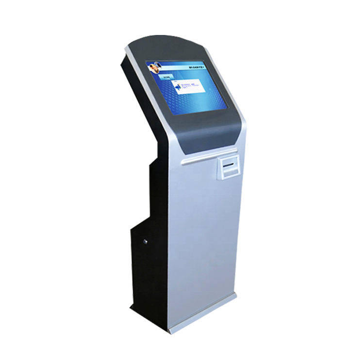 china supplier wireless queue management system ticket dispenser kiosk with led and LCD display