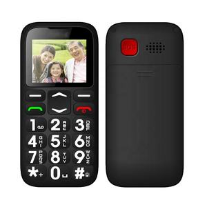 1.77 inch Big sound FM no camera Big push button Senior Feature Mobile Cellphone 2G SOS Elderly Bar phone Single Card in China