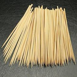 New products natural round bamboo rotating BBQ skewer