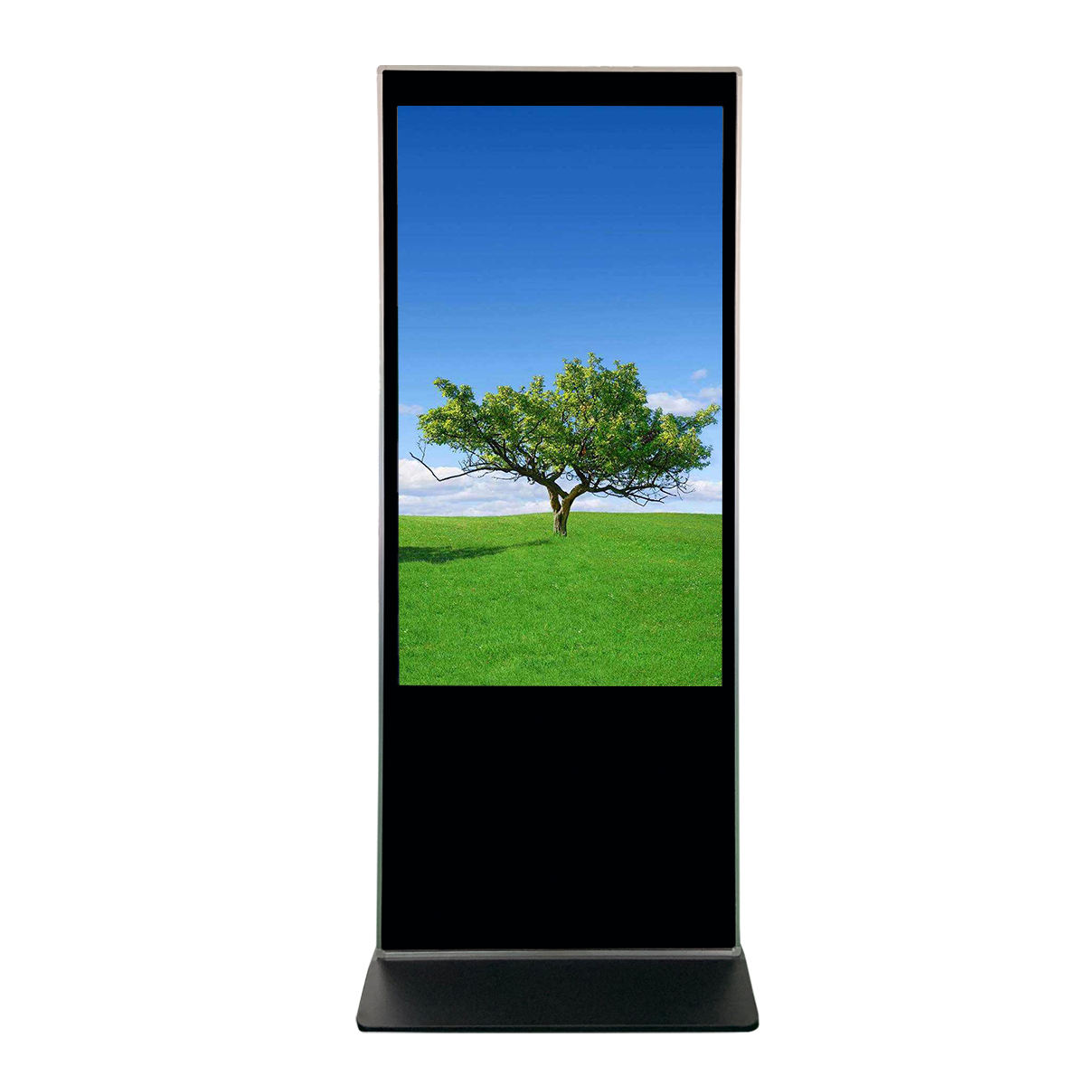 55 Inch Stand Up Kiosk 4K Touch Screen Monitor Voor Verbinding Speler Of Mini Pc