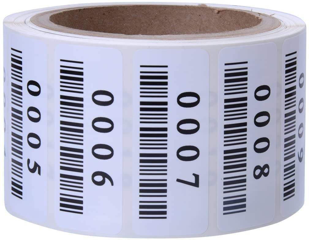 STK-21 UPC lable stickers, barcode stickers, Consecutively Numbered Labels