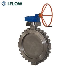 corrosion resistant stainless steel wafer type double eccentric high performance butterfly valve