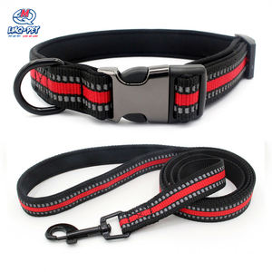 Wholesale Pet Adjustable Reflective Dog Puppy Training Collar Leash