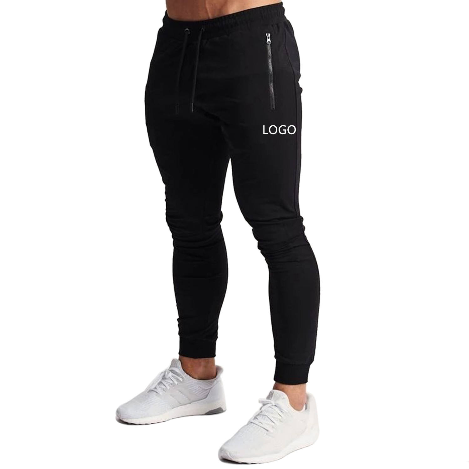 High Quality Private Label Khaki Polyester Mens Fashion Slim Fit Jogger Sweatpants