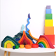 New arrival learning kids rainbow boat nontoxic montessori Education baby safe for kids other natural wood puzzle toys