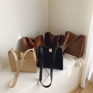 Fashionable Leisure Large Capacity Pu Tote Bag New Style Vintage Single Shoulder Bags 2020 Summer