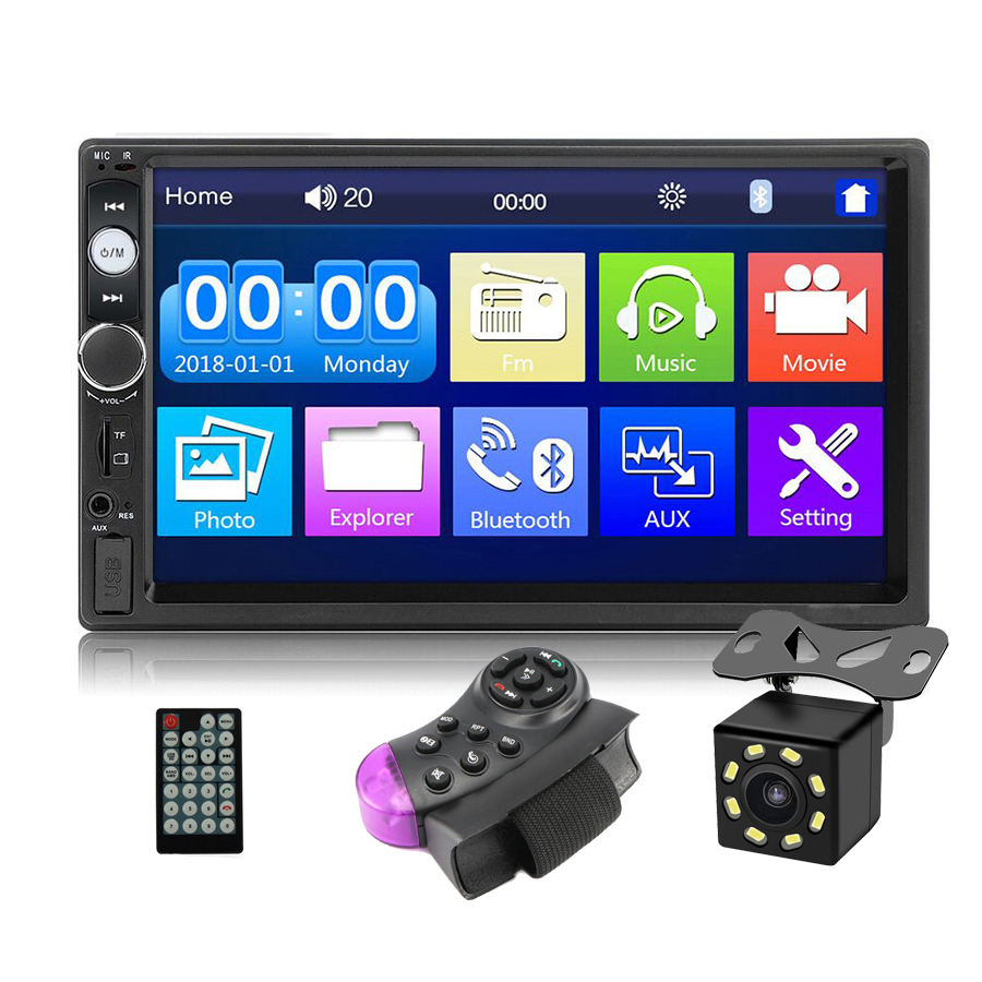 Universal Auto Radio 2 Din 7 Zoll Touch Screen Stereo Multimedia-Player, 2Din Rückspiegel Link/FM/TF/Bluetooth/MP5 Auto-Player
