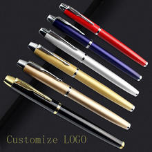 Luxury High-grade Metal Parker Pen and Steel Pole Ballpoint Pen with Logo Customized Wholesale