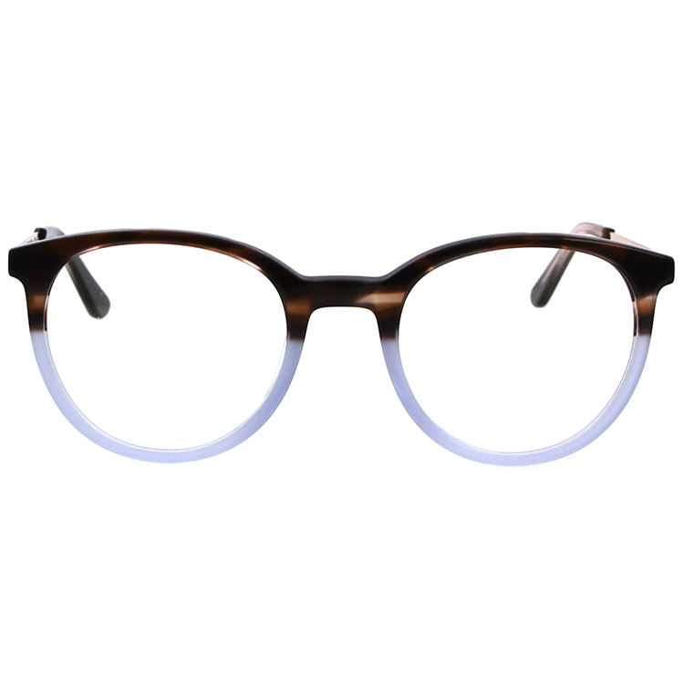 Combination Temples Wholesale Fiber Eyeglasses Frames Hot Selling Vogue Eyewear Oval Shape Acetate Metal Metal Hinge AC Lens