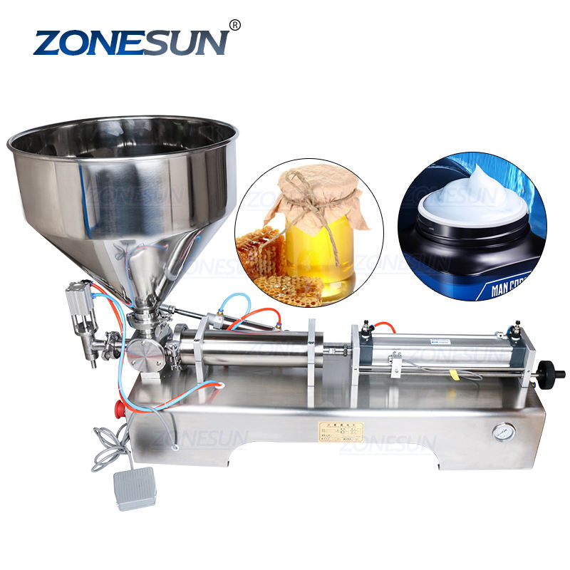 Zonesun ZS-GT1 10-100Ml Semi Automatische Piston Pasta Vulmachine Pasta Vulmiddel Zalf Filler Supply