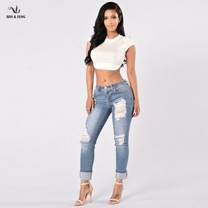 jeans mujer modelos | Venta al por mayor, OEM, nuevo modelo, jeans, marca privada, jeans para mujer, vaqueros con alta calidad, personalizados, 2019