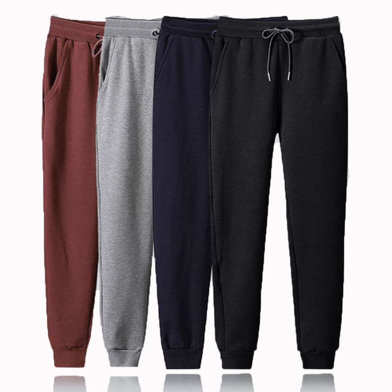 2020 Wholesale printing plain mens track pants custom logo gym cotton sweatpants jogging pants from China Factory