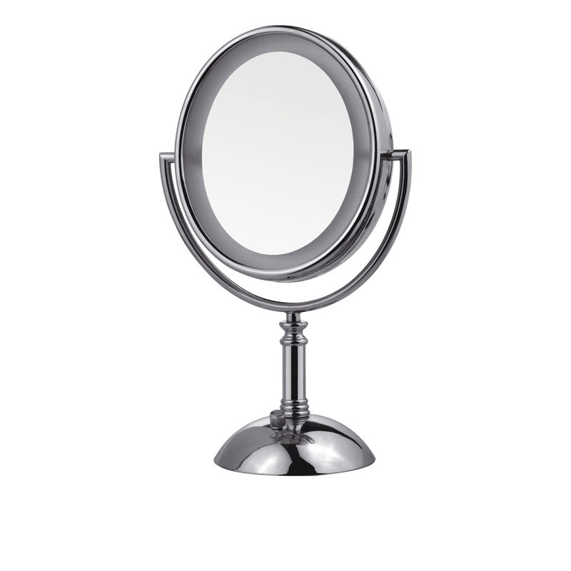 17cm Dressing Table Rocker Makeup Mirrors with Led Lights for Bathroom