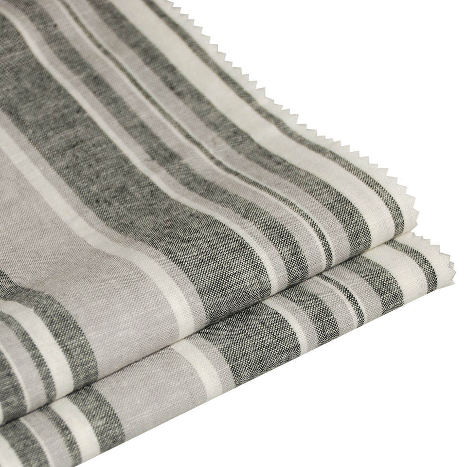 Conventional style custom india striped linen cotton blended fabric