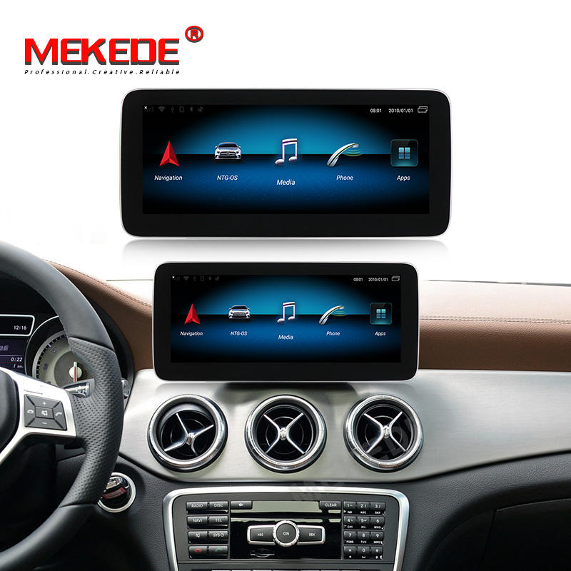 "Mekede 10.25 ""Sim 4G 9.0 8 Core dengan 4 + 64GB Mobil Radio DVD <span class=keywords><strong>Player</strong></span> untuk mercedes-benz Slk-class W117 2013-2014 NTG4.5 Video Stereo Bt"