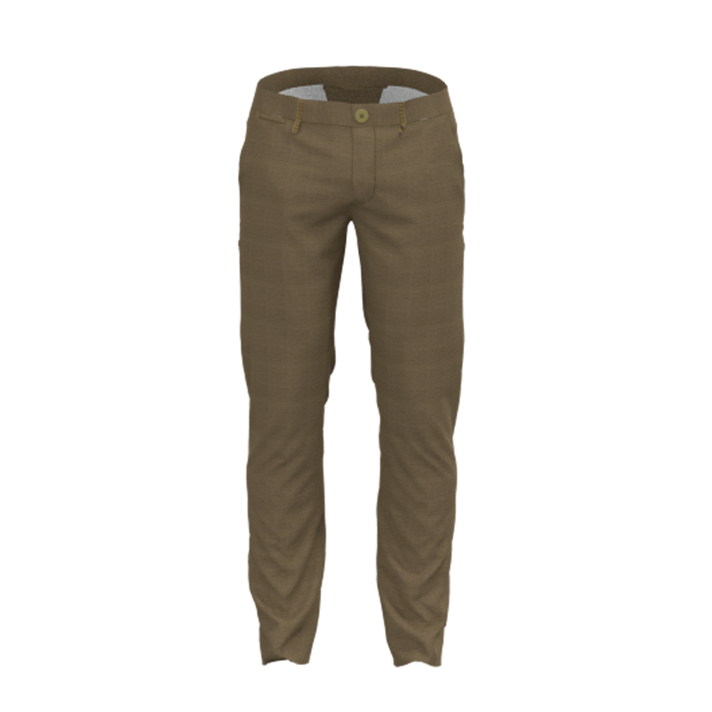 Mid Custom Design Spring 100% Cotton Kelp Khaki Men'S Pants Slim Fit Long Chino For Men