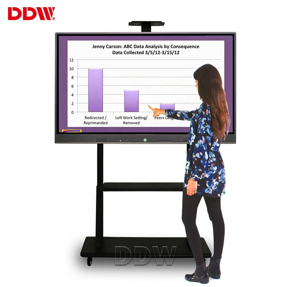 China Fabricage Prijzen 86 Inch Smart Draagbare Digitale Board Touch Screen Stand Elektronische Interactieve Whiteboard Voor Classroom