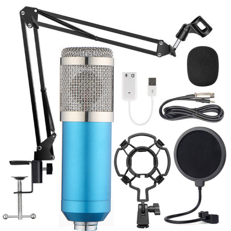 High Sensitivity Podcast Studio Recording Electret Condenser Microphone