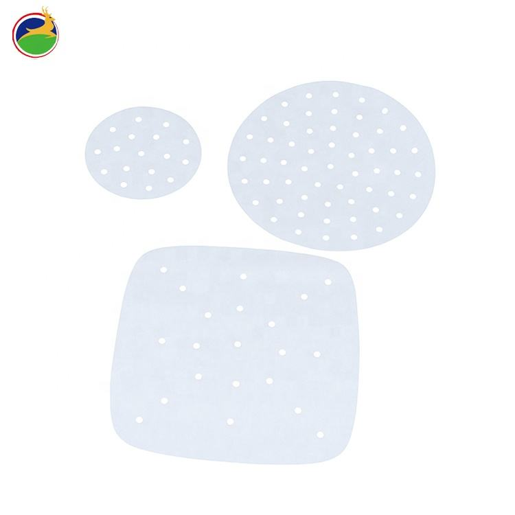 White perforated size customized air fryer liner