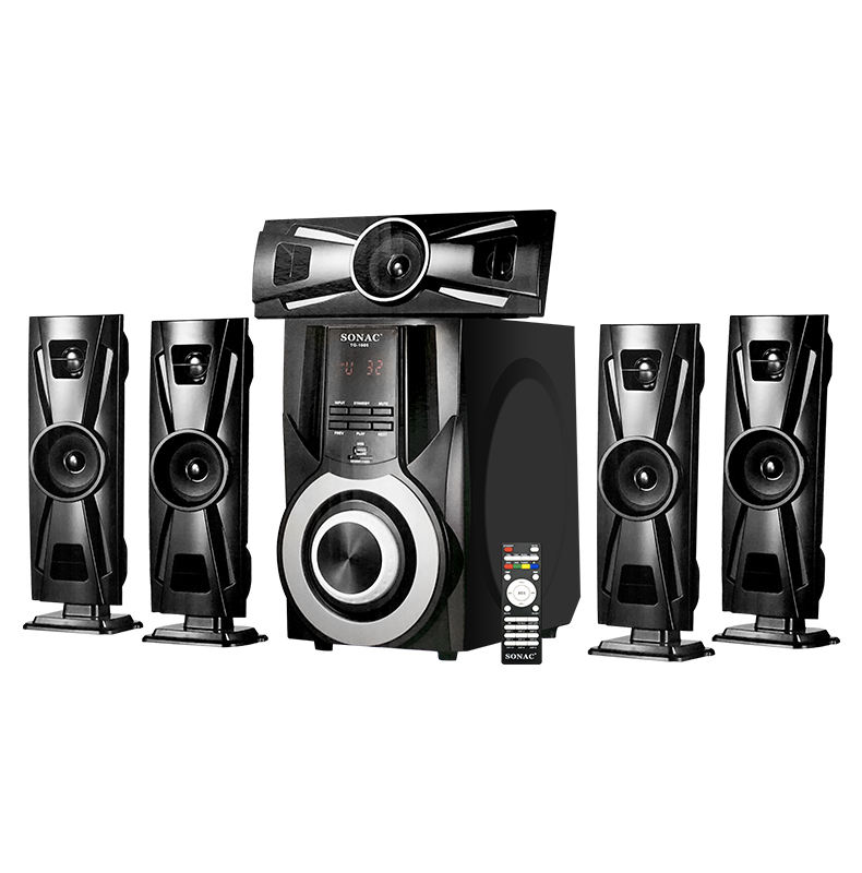 Speaker 5.1 Suara Surround Hifi Bass Super Kaca Tinggi Sistem Home Theater 5.1 Channel