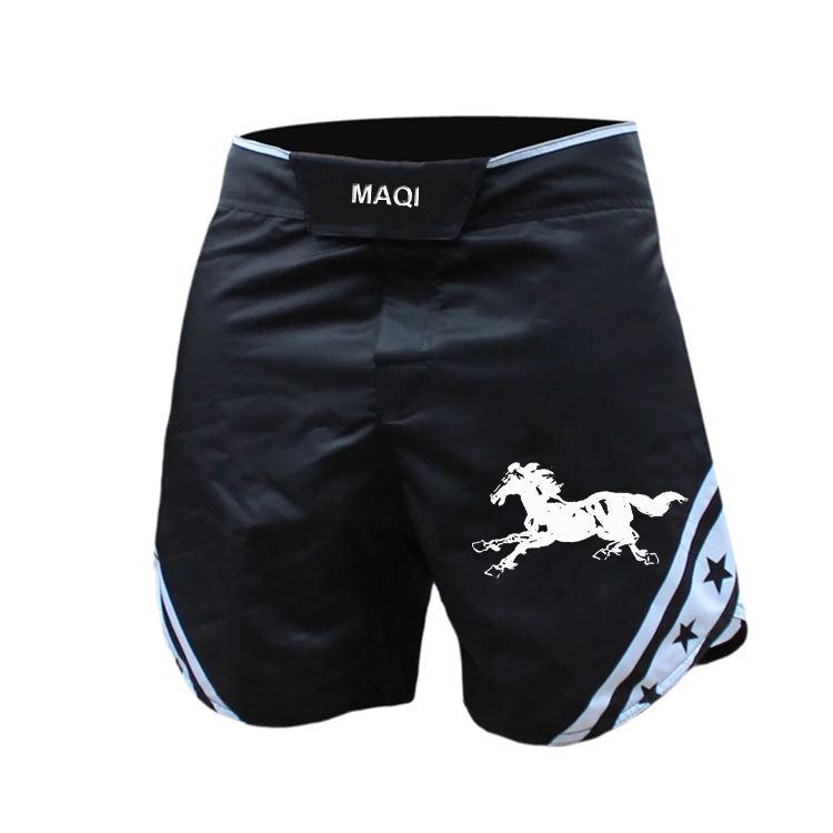 Wholesale custom fashion sublimation printed mma ufc short 4 way stretch boxing muay thai shorts