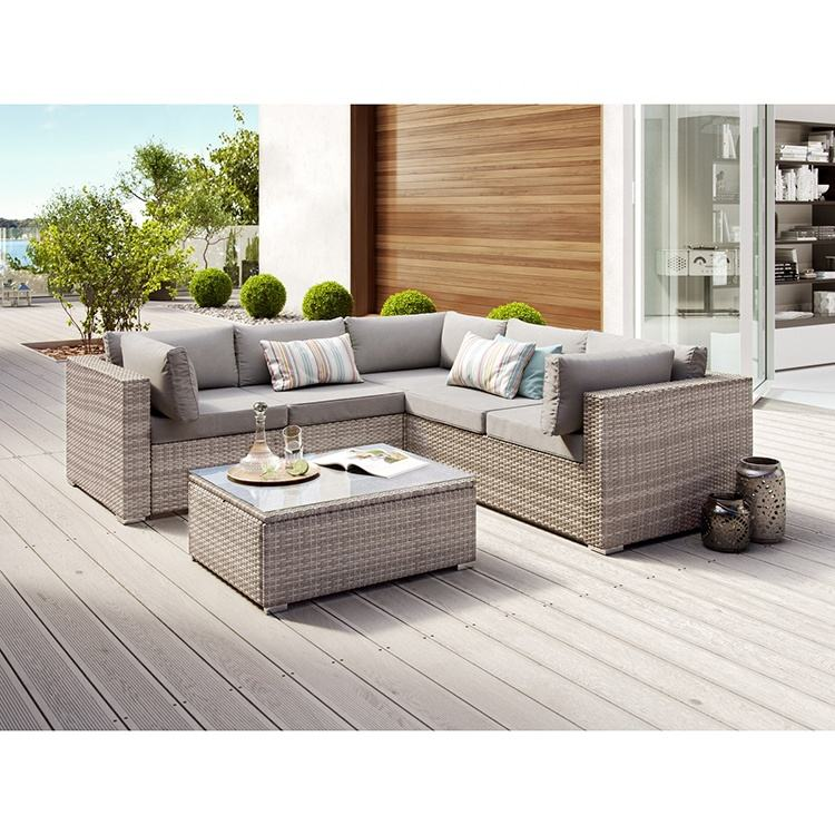 Chinese manufacturer wholesale PE rattan,steel frame cushion with removable cover outdoor furniture