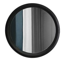 Modern style 2019 black round shape 45x45cm wooden frame decorative wall mirrors E-co friendly framed mirror
