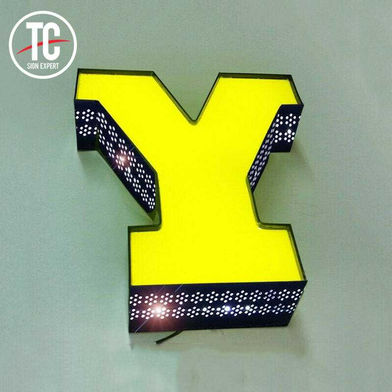 Custom Advertising Nama Perusahaan 3D LED Light Box Logo Tanda
