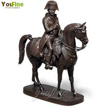 Garden Outdoor Bronze Napoleon Knight Horse Sculpture