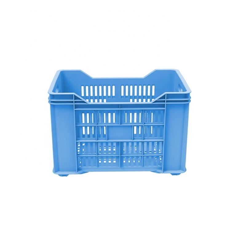 crate mould Stackable Mesh Plastic Crate Plastic Turnover Basket For Fruits