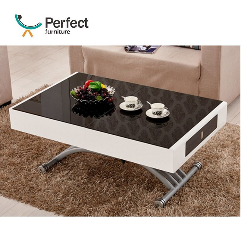 2020 New Released Space Saving Home Dining Furniture Extending Top Multifunctional coffee Table, Extendable Dinner Table