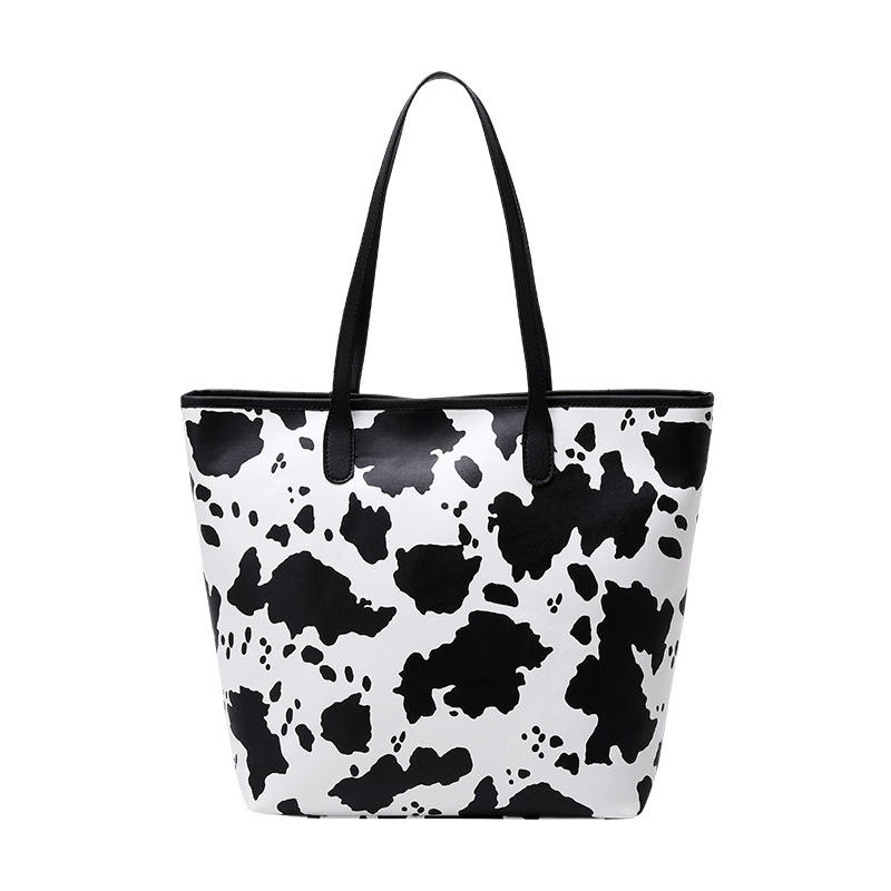 2021 Wholesale High Quality Pu Leather Ladies Shoulder Tote Bags Luxury Women Cow And Zebra Print Handbag