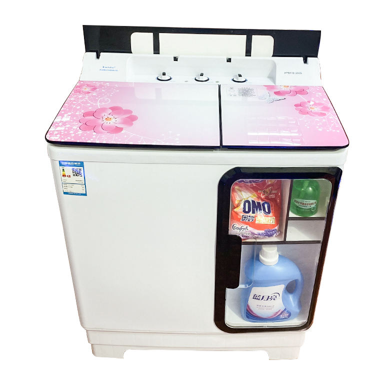 12kg 2 tub portable household quickly clean washing machine
