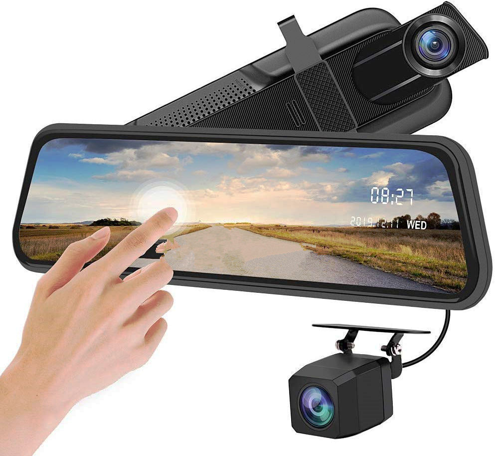 2020 Hot Sale Recorder Hidden Rear View Camera in Car Dvr 1080p Mirror Security 10 Inch Dashcam