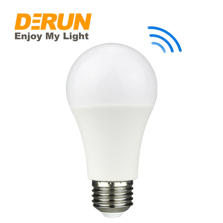 Motion Sensor Light Bulbs Dusk Till Dawn Security LED Bulb A60 9W E27 Indoor Outdoor Lighting for Front Door , LED-SENSOR
